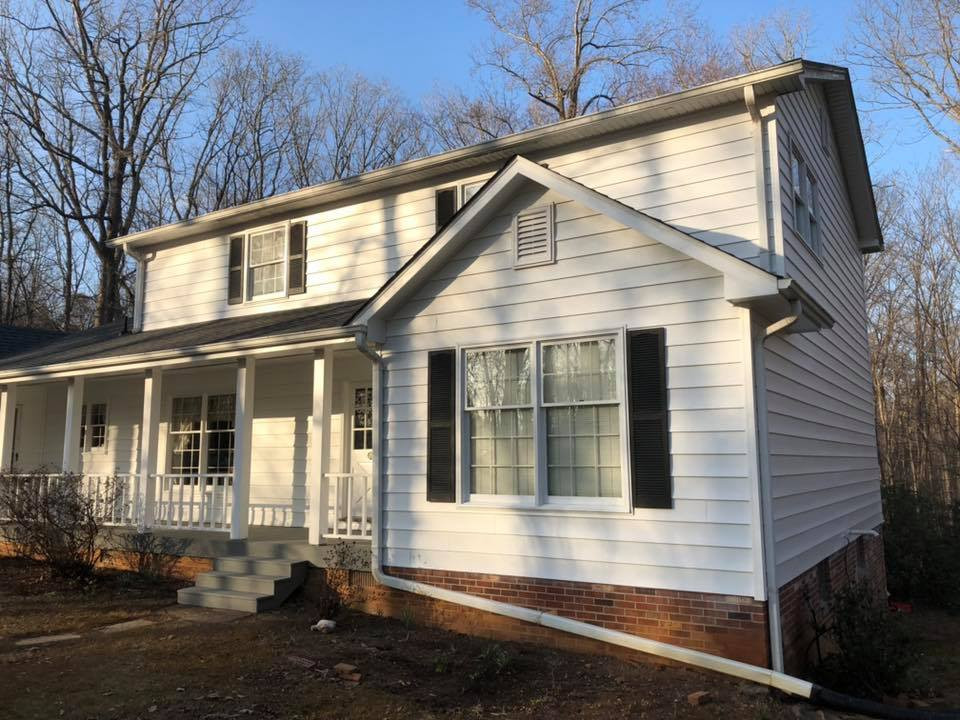 new siding and shutters