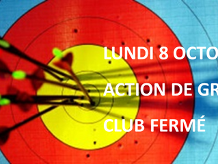 LUNDI 8 OCTOBRE CLUB FERMÉ