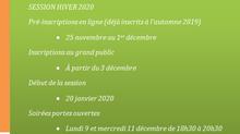 Informations pour la session Hiver - 2020