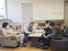 全国手漉和紙用具製作技術保存会事務局(高知県いの町)へ打ち合わせ会議