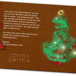 Christmas card email design