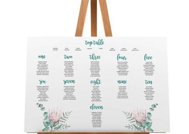 Protea Flower Seating Plan