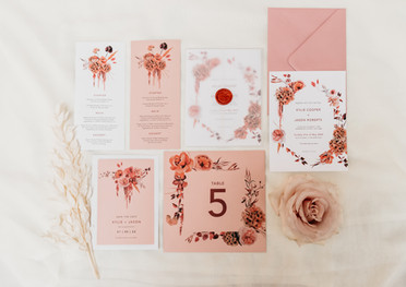 Scarlett Bouquet Stationery Collection
