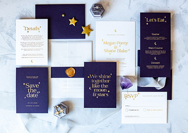 Cosmic Love Wedding Stationery Suite