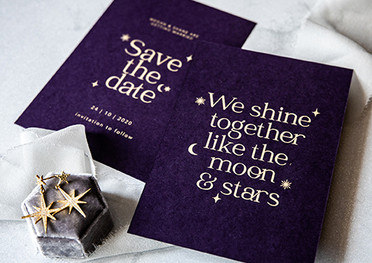 Cosmic Love Save The Date Cards