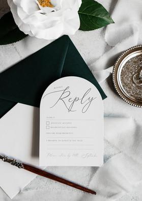 Elegant Arch RSVP Cards