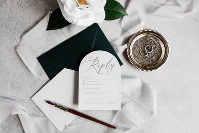 Elegant Arch Invitations