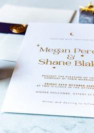 Cosmic Love Wedding Invitation