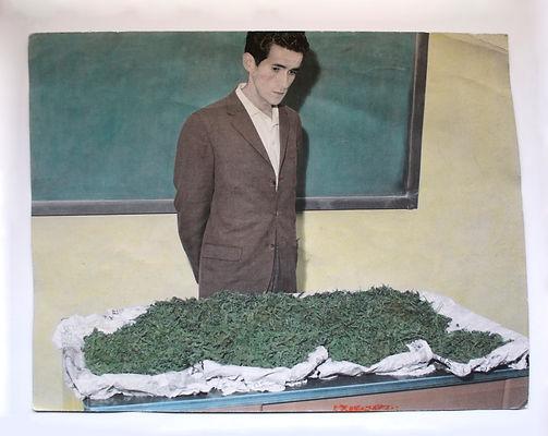 """""""Cantidad suficiente para cinco mil cigarrillos"""" Fotografía sobre papel de algodón iluminada con pigmentos Marshall`s 110 x 139.4 cm  2013"""