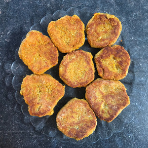 Galettes végétales quinoa patate douce sans gluten