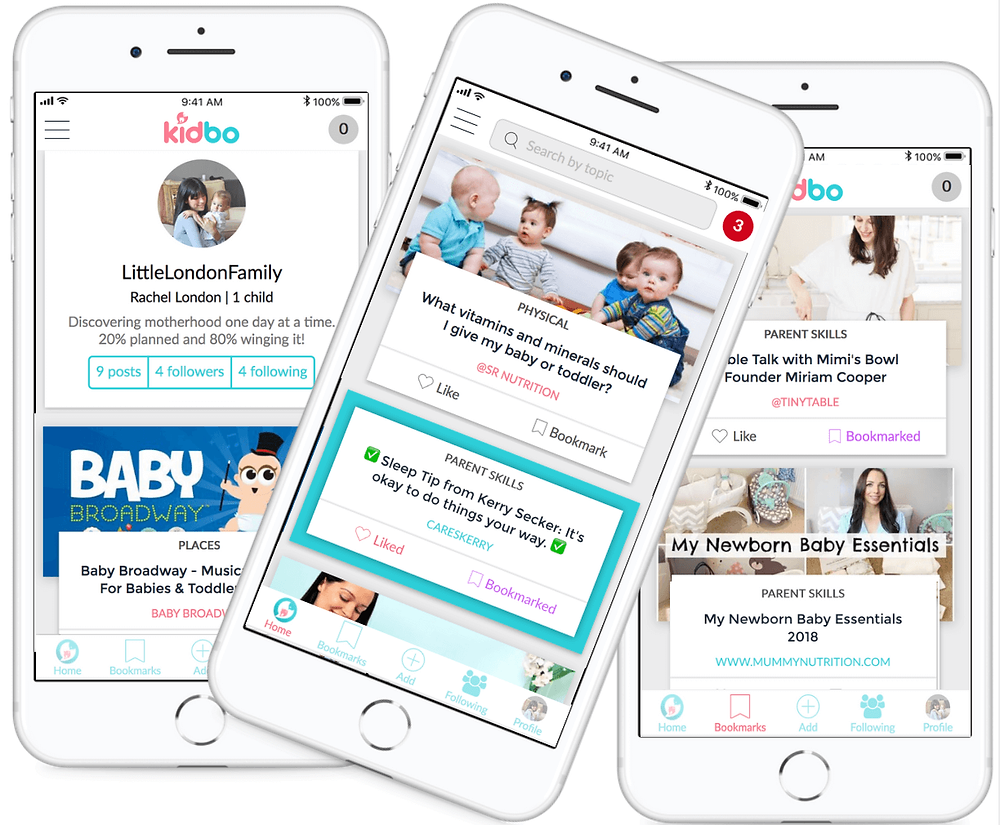 Kidbo parent app with handy tools for parenthood