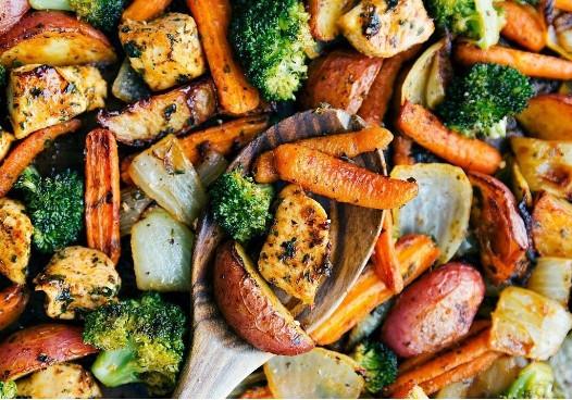 roasted veggies in one dish
