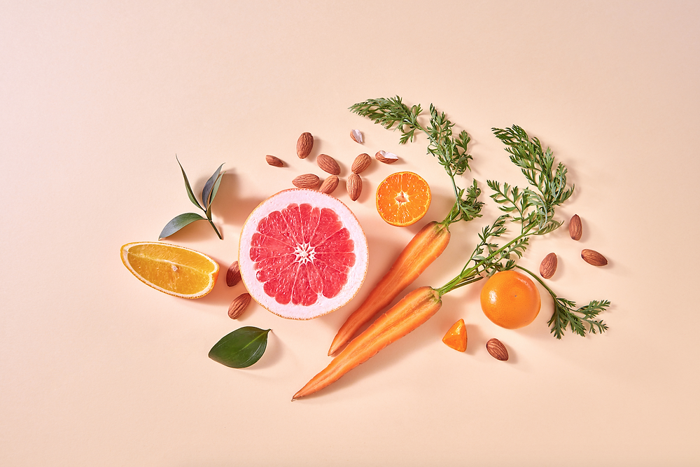 Vitamins and Minerals in Foods, Fruit, Vegetables and Nuts