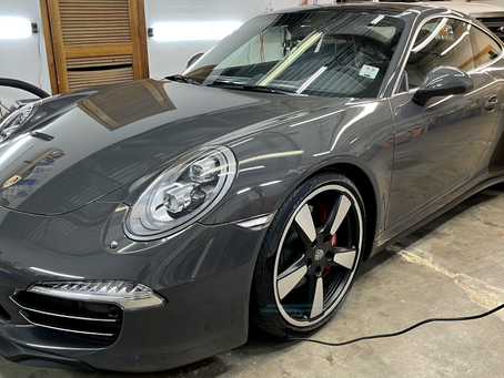 Ceramic Coating A 2015 Porsche 911 50th anniversary edition