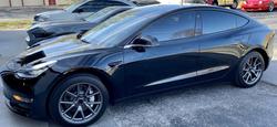 black Tesla model 3 window tinting Kansas City