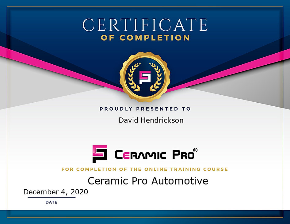 ceramic pro certified installer ceramic coatings