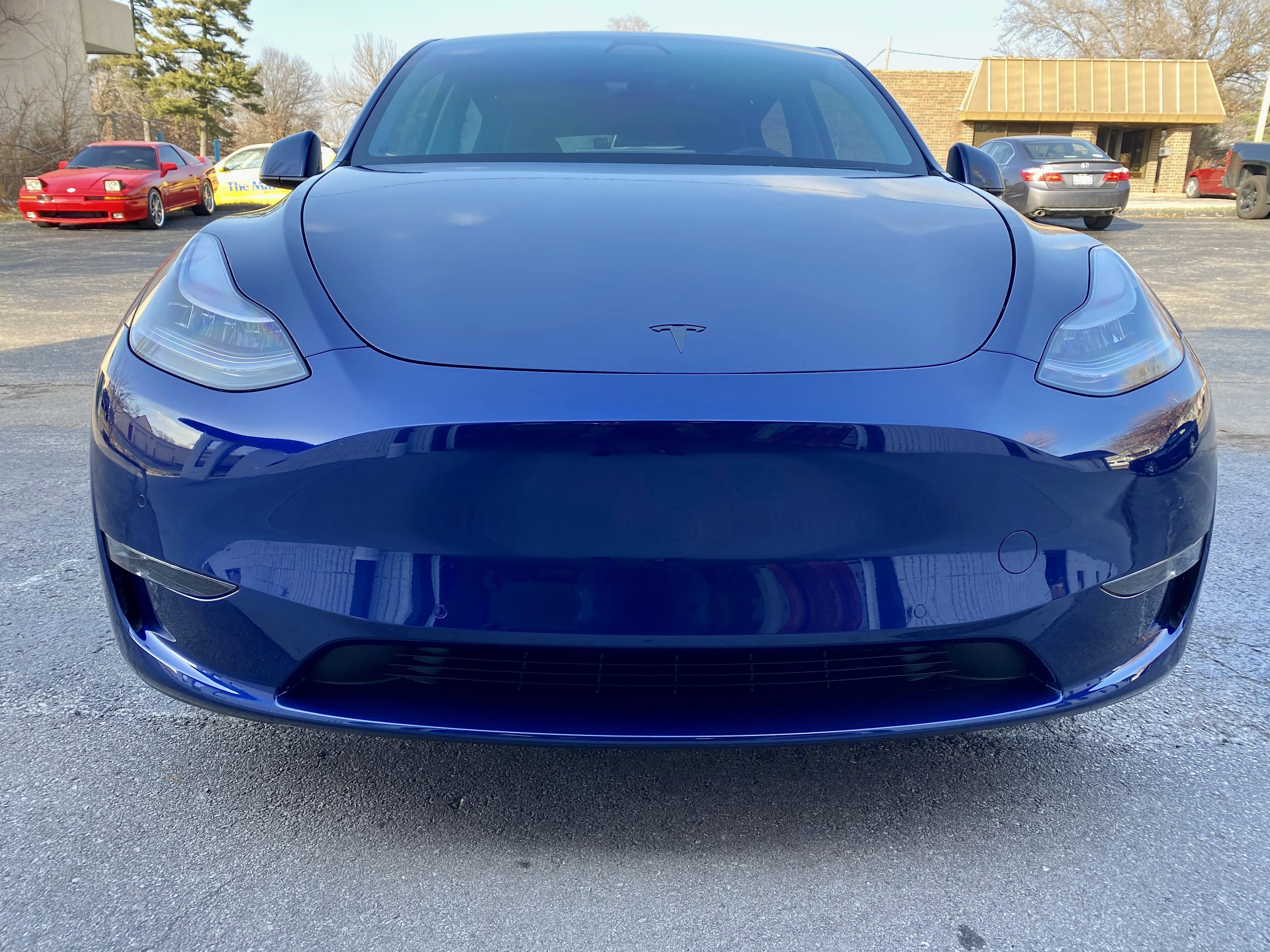 Tesla model y bumper paint protection film Kansas city