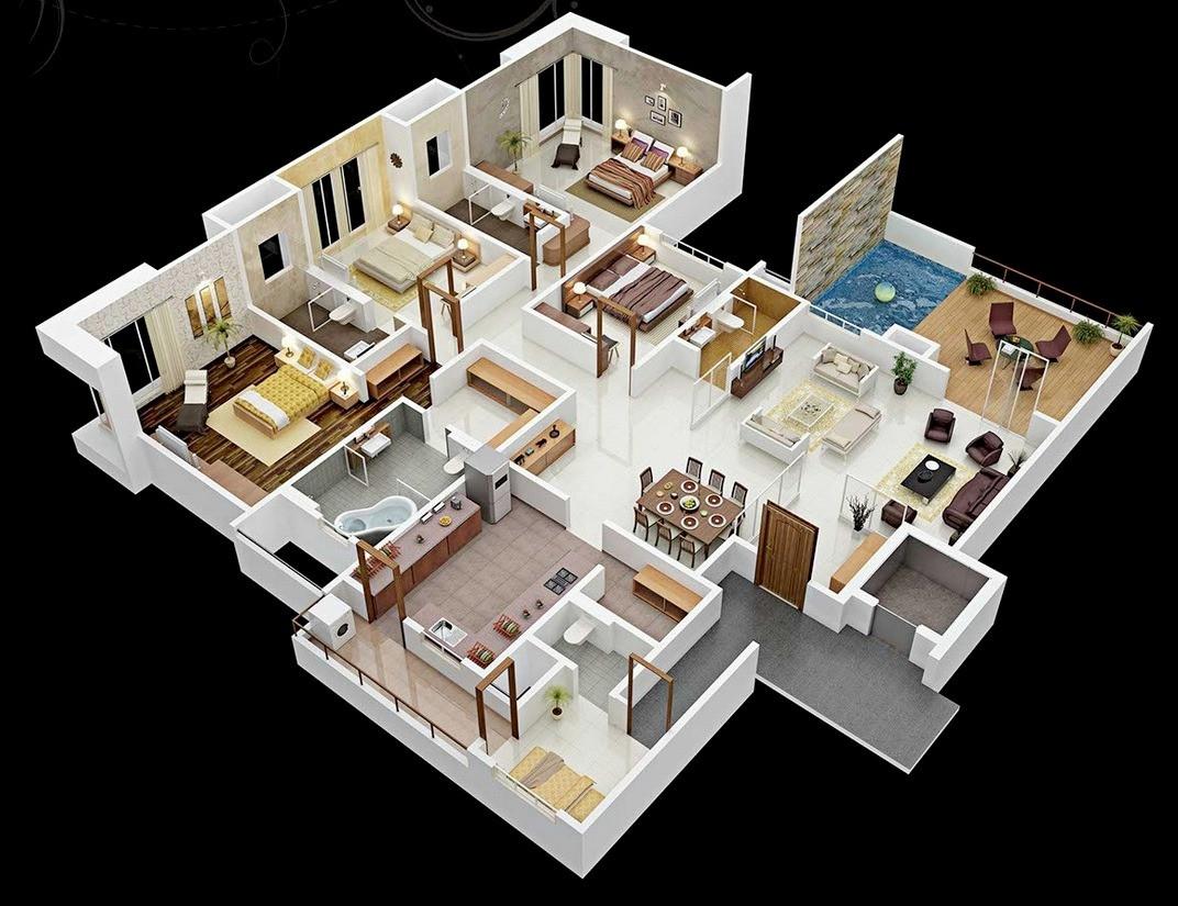 Faim Floor Plan 3D Concept