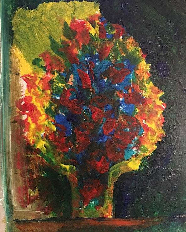 A quick flower sketch. #art #flowers #pa