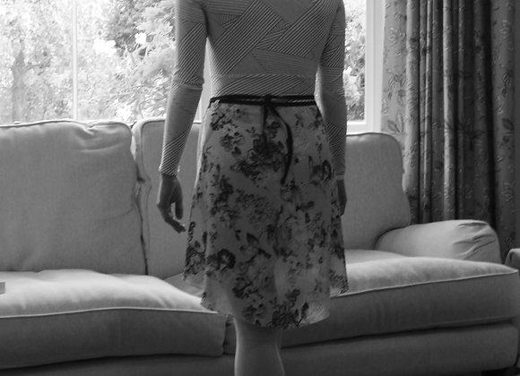 Plain High Low Wrap Skirts