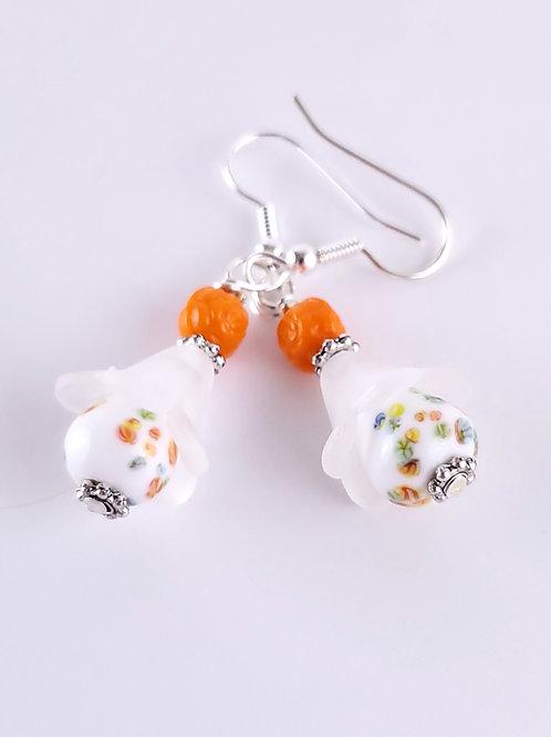 Women's Vintage Japanese Tombo bead earrings