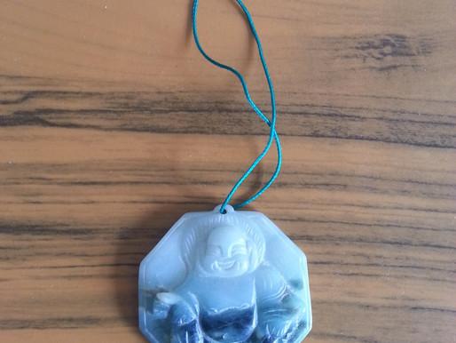 A piece of Buddhist Jade (Jade Luk)