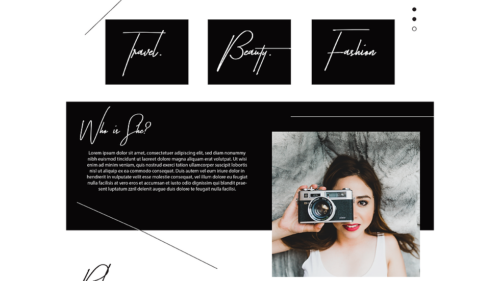 She Who Dares Blog Template