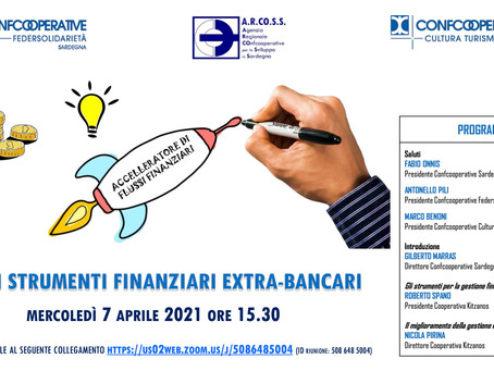 Kitzanos & ConfCooperative Sardegna -> Strumenti finanziari extrabancari: webinar 7/4/21 h. 15.30.