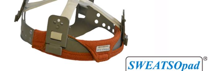 SWEATSOpad® Hard Hat Welding Sweatbands: Orange