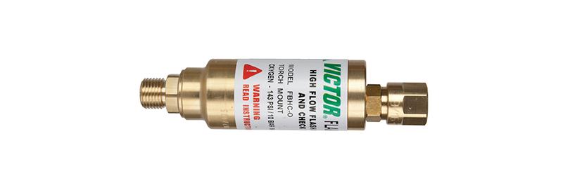 Victor® Flamebuster FBHC-O Flashback Arrestor Oxygen Torch Mount High Flow B