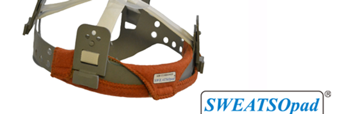 SWEATSOpad® Hard Hat Welding Sweatbands: Orange