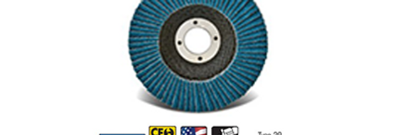 "Z-Poly Cotton Economy 4 1/2"" x 7/8"" 60x Grit Type 29 Flap Disc"