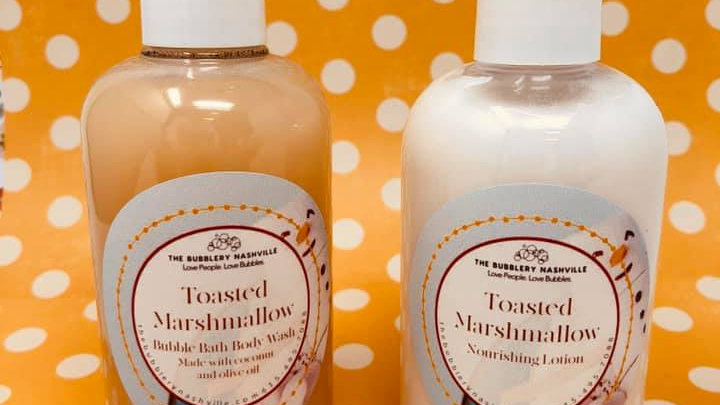 Toasted Marshmallow Duo  Nourishing Lotion/Bubble Bath
