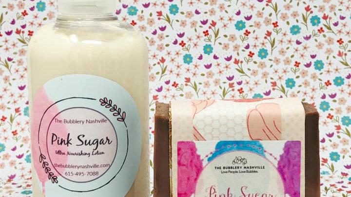 Pink Sugar Bar/Lotion Combo