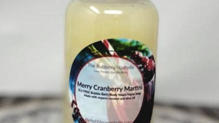 Merry Cranberry Martini Bubble Bath/Body Wash/Hand Soap