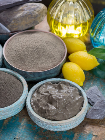 Ancient nature minerals, different types