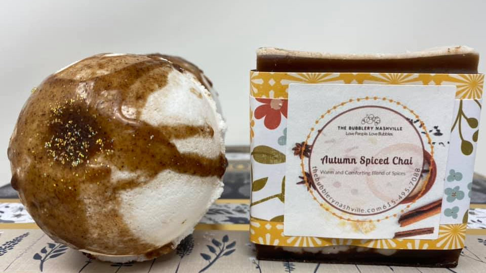 Autumn Spiced Chai Soap and Bomb