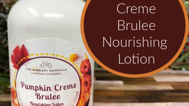 Pumpkin Creme Brulee' Nourishing Lotion