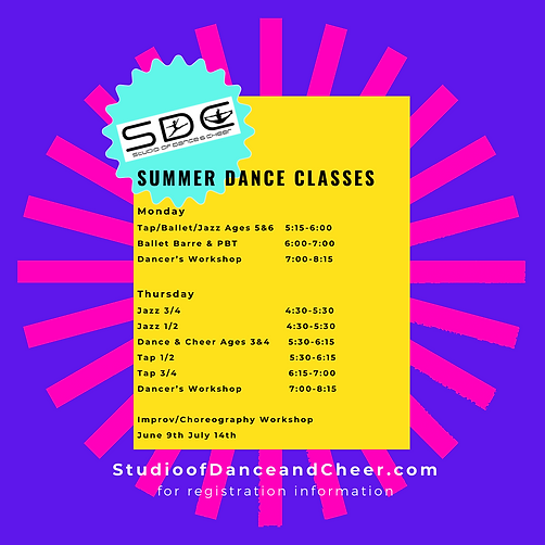 Monday Tap_Ballet_Jazz Combo Ages 5 & 6