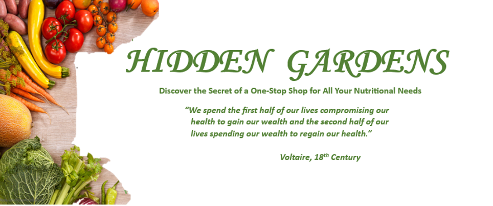 Hidden Gardens Website - Home Page Image