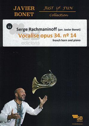 Vocalise opus 34 / Rachmaninof (score)