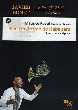 Pièce en forme de Habanera / Ravel  (score)