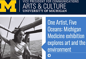 University of Michigan, Michigan Arts & Culture, Gifts of Art, Danielle Eubank, One Artist Five Oceans