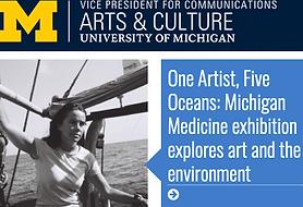 University of Michigan, Michigan Arts & Culture, Gifts of Art, Danielle Eubank, One Artist Five Oceans