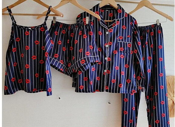 Pijama Kiss Satinada 7 piezas
