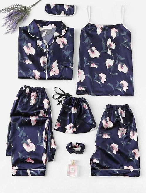 Pijama Blue Flower 7 piezas