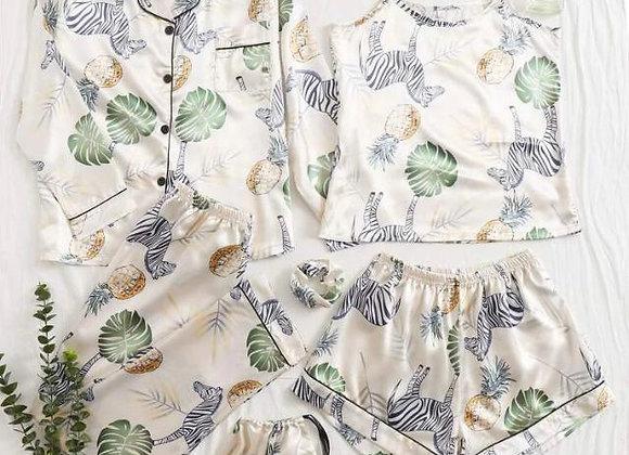 Pijama Satinada 7 piezas Safari