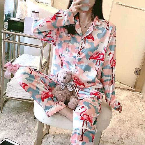 Pijama Flamingo Pantalón y Manga Larga
