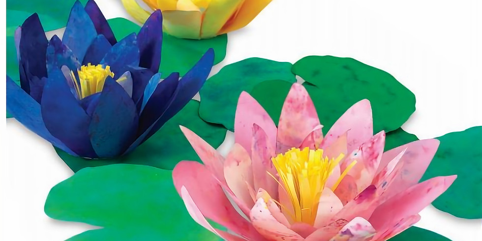 """Youth Art Class (11-16 year olds): """"Monet's Watercolor Lilies"""""""