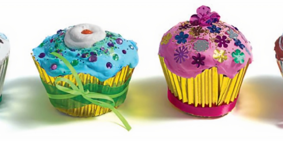 """Youth Art Class (6-10 year olds): """"Delightful, Deliciously Decorated Sculptural Cupcakes"""""""